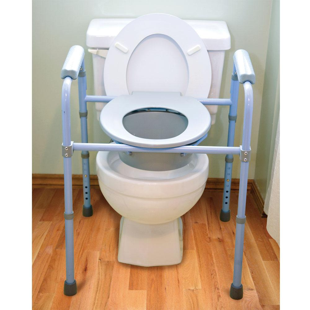 Deluxe Folding Commode - Carex Health Brands B34100 - Portable ...